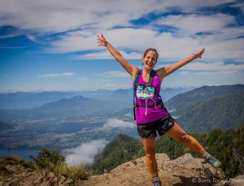 en la cumbre del cerro mayo, luego del punto mas duro de los 30K del futangue challenge 2015