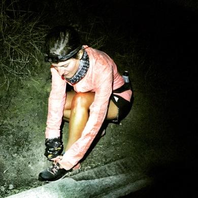 en un entrenamiento nocturno, foto Katherine Cañete